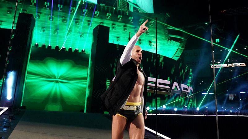 Cesaro en WrestleMania 37 antes de la mayor victoria de su carrera