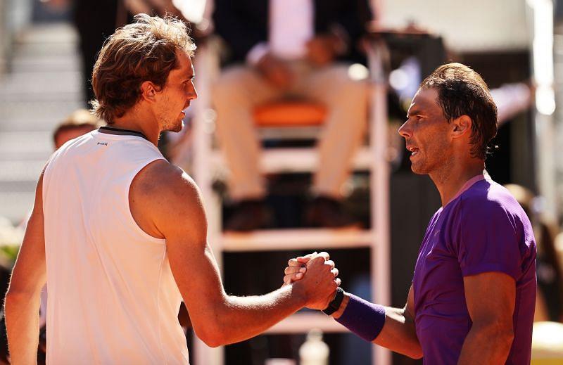 Alexander Zverev after beating Rafael Nadal