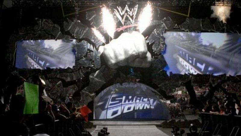 The iconic fist of SmackDown