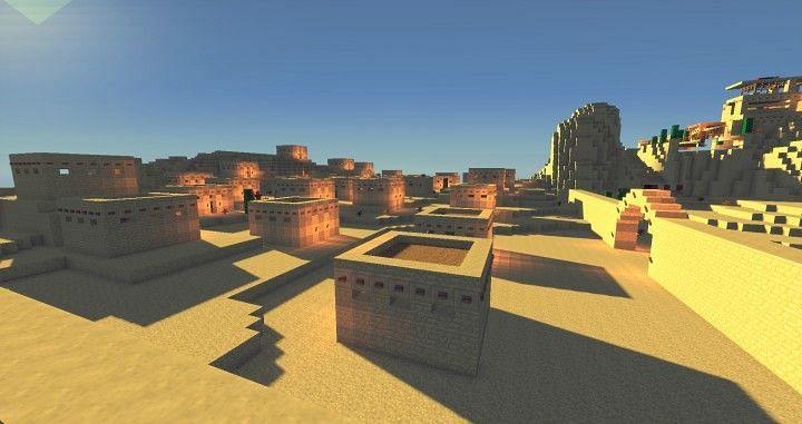Desert biome (Image via planetminecraft)