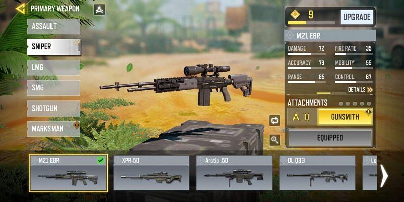 The top 5 Sniper Rifles in COD Mobile Season 3 (Image via Activision)