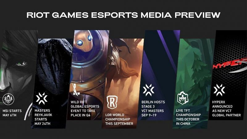 Riot Games reveals upcoming esports plans for Valorant, League of Legends Wild Rift, TFT, and Legends of Runeterra (Image from Riot Games)