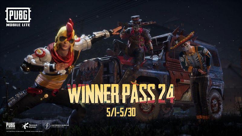 The Winner Pass Season 24 commenced today (Image via PUBG Mobile Lite)