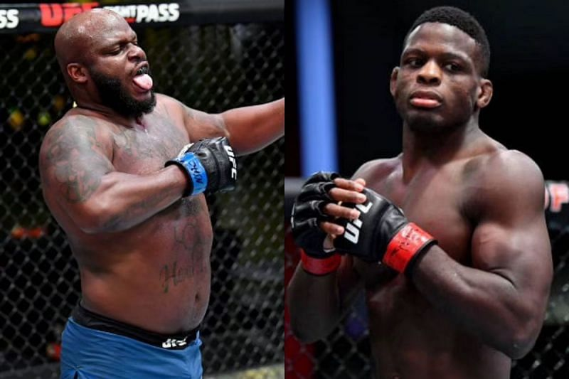 Derrick Lewis (left) gave a hilarious take on Phil Hawes