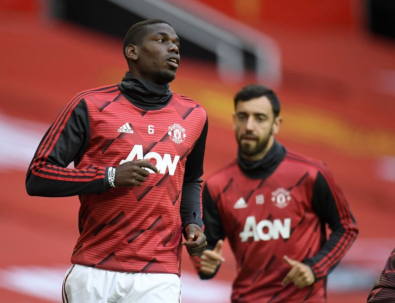 Paul Pogba (left) and Bruno Fernandes