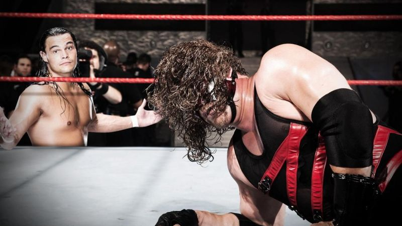 Bo Dallas (left); Kane (right)