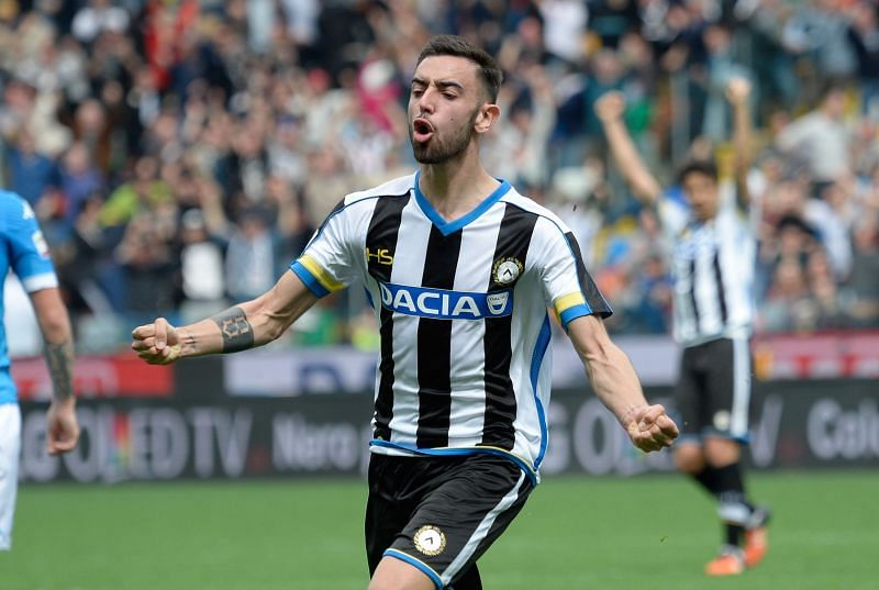 Bruno Fernandes played for Udinese from 2013 to 2016. (Photo by Dino Panato/Getty Images)