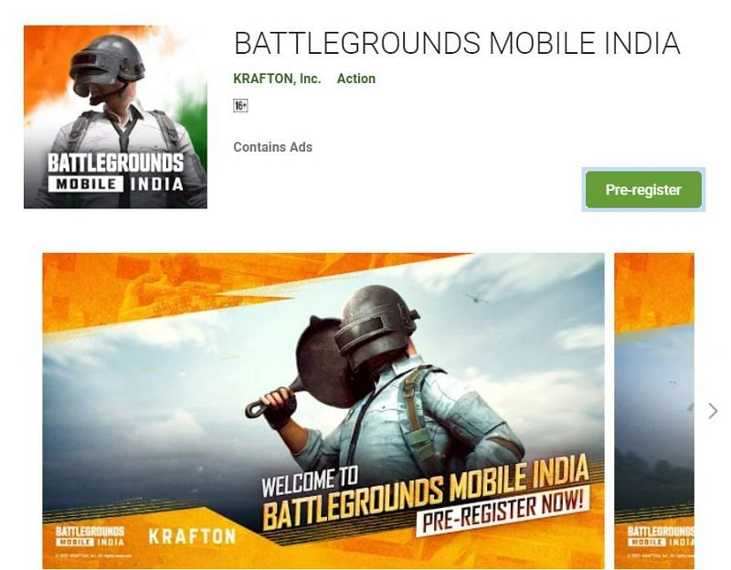 Pre-registrations for Battlegrounds Mobile India have commenced