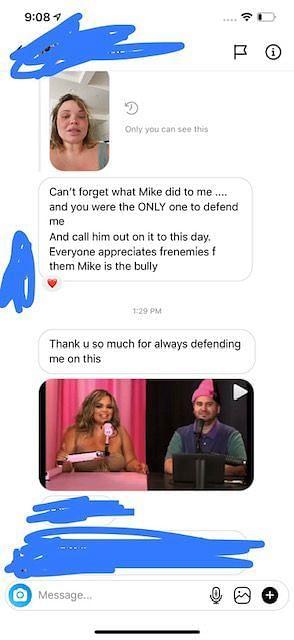Trisha Paytas' screenshots of her DMs (Image via Twitter)