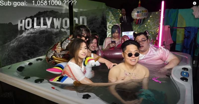 Pokimane hosted a hot-tub stream along with members of Offline TV on her birthday.