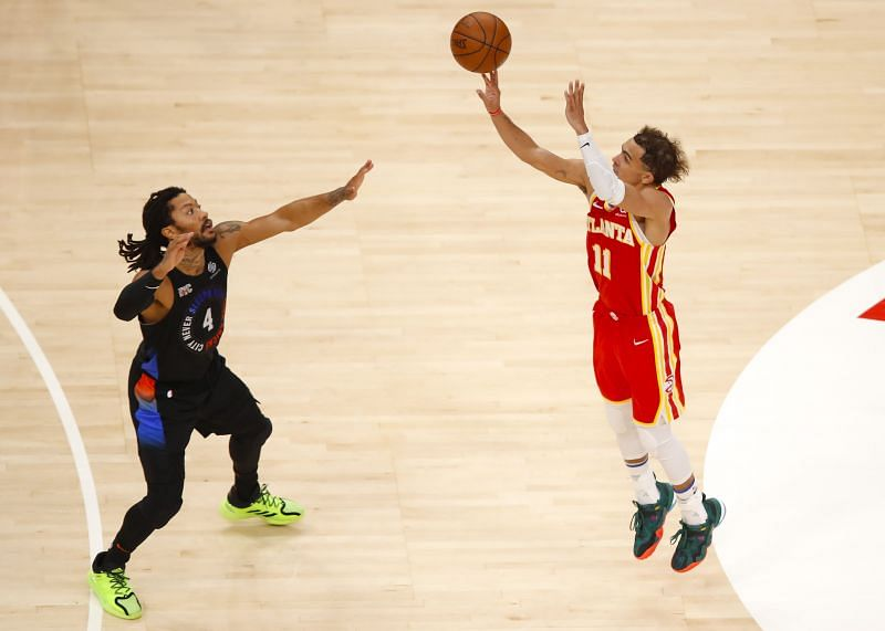 New York Knicks' Derrick Rose v Atlanta Hawks' Trae Young - Game Three