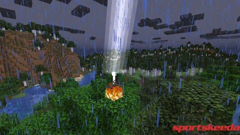 A white hot electric room in Minecraft