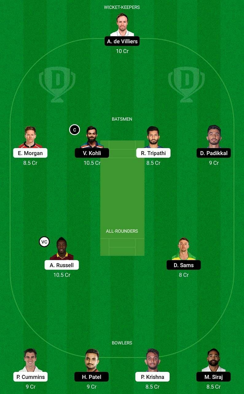 KKR vs RCB IPL 2021 Dream11 Tips