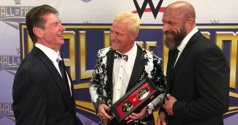 Vince McMahon, Jeff Jarrett, and Triple H