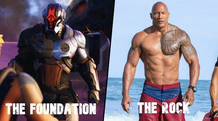"""Fans speculate that Dwayne """"The Rock"""" Johnson is The Foundation in Fortnite. Image via Twitter (@Alvaro90634704)"""