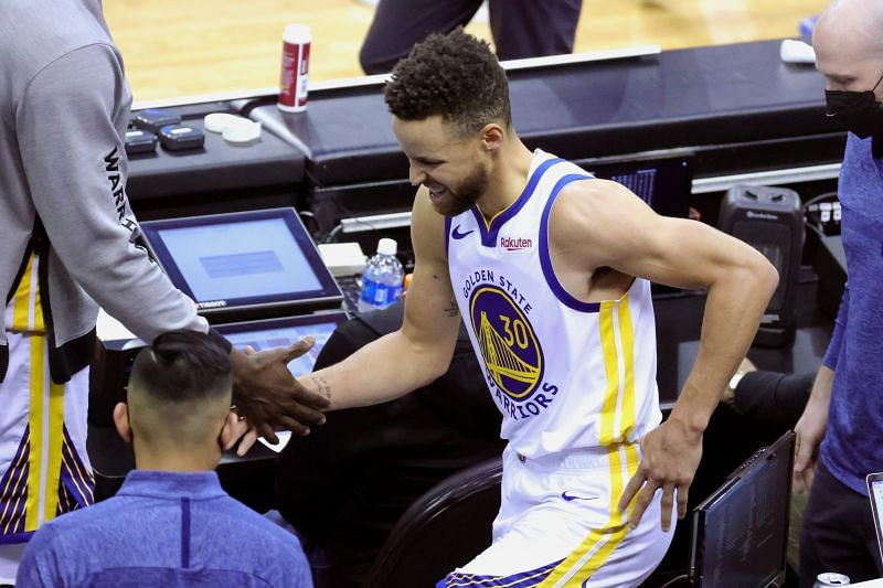 Stephen Curry suffered a tailbone injury on March 17th against the Houston Rockets during a regular-season matchup