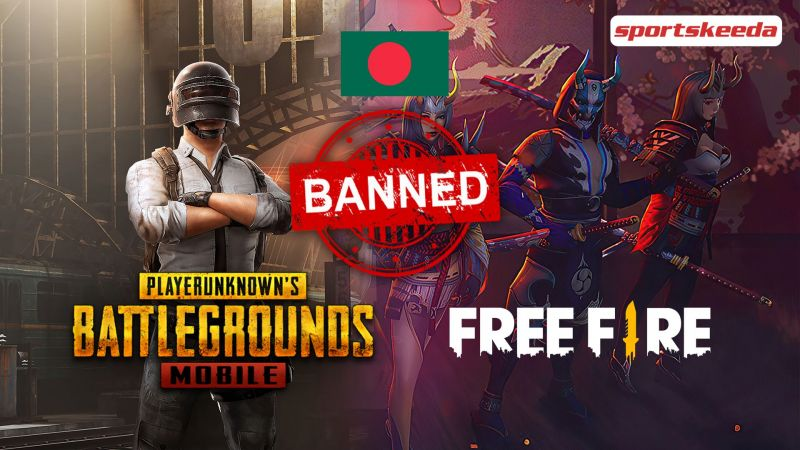 PUBG Mobile and Free Fire might face a ban in Bangladesh (Image via Sportskeda)