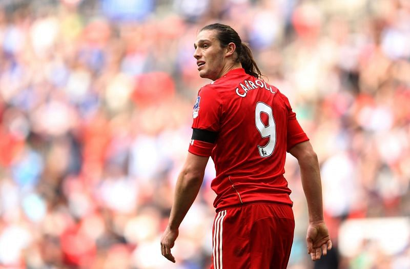 Carroll did not have the best of times at Anfield
