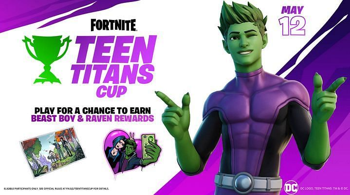 Beast Boy Skin and More Unlocked via Participating in the Teen Titans Cup {Image via Epic Games}