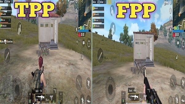 PUBG Mobile players can play the game on both TPP (Third Person Perspective) and FPP (First Person Perspective (Image via Quora)