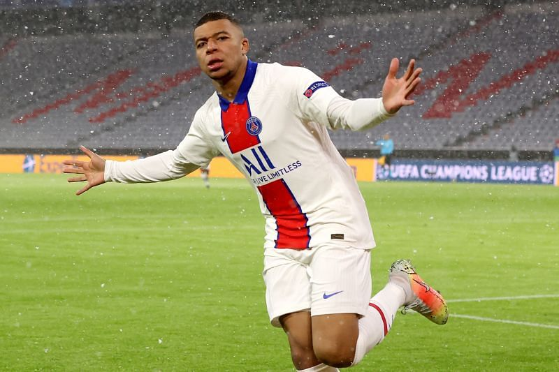 Kylian Mbappe scored a hat-trick against Barcelona in the round of 16 fixture.