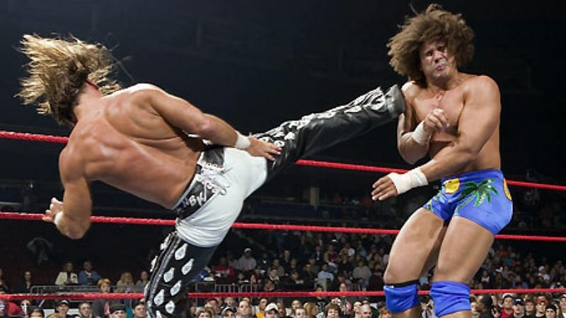 Shawn Michaels defeated Carlito in two singles matches on RAW in 2005