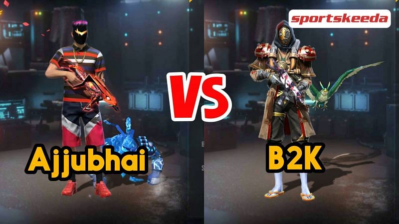 Ajjubhai (Total Gaming) and B2K (Born2Kill) in Garena Free Fire