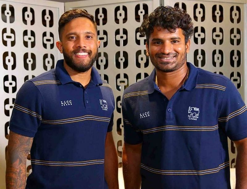 The Sri Lankan cricket team left for Bangladesh on Sunday (Image Credits: SLC/ Twitter)