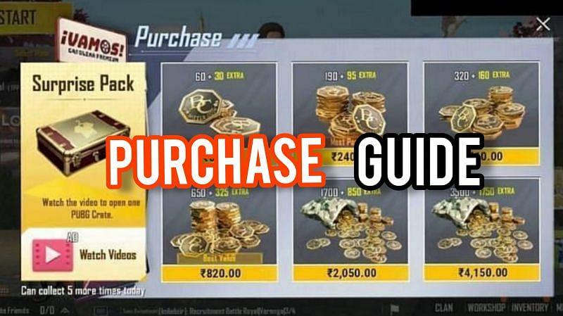 BC (Battle Coins) is PUBG Mobile Lite