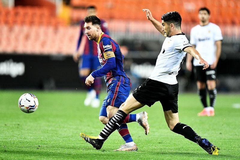 Barcelona registered a 3-2 away win over Valencia on Sunday night