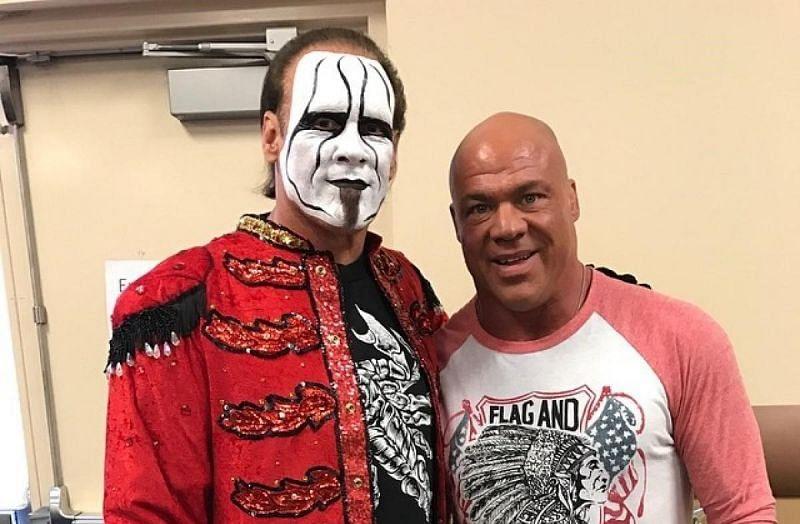 Will we ever see Kurt Angle wrestle Sting again?