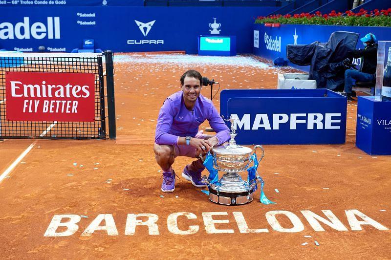 Rafael Nadal at the 2021 Barcelona Open