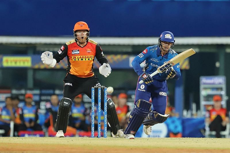 The Sunrisers Hyderabad will go up against the Mumbai Indians in Match No. 31 of IPL 2021. (Image Courtesy: IPLT20.com)