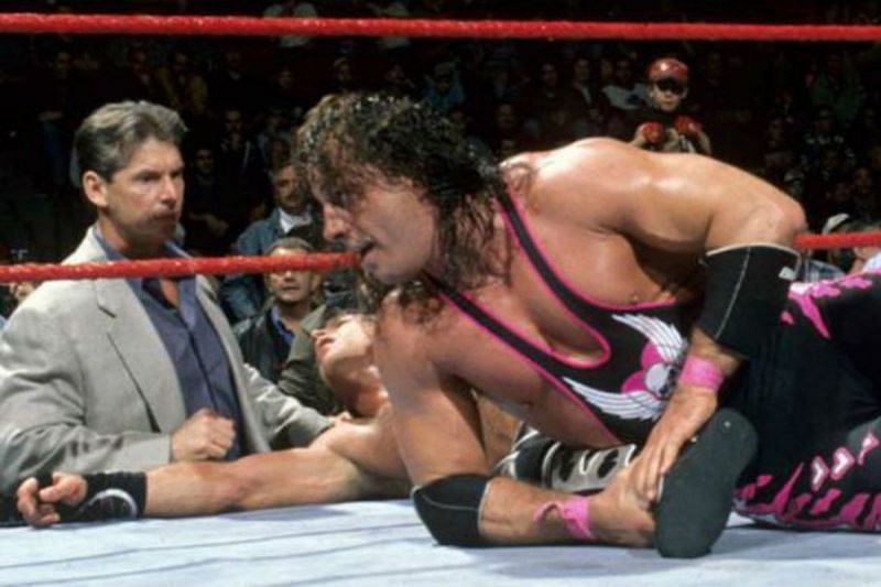 Vince McMahon and Bret Hart at WWE Survivor Series 1997