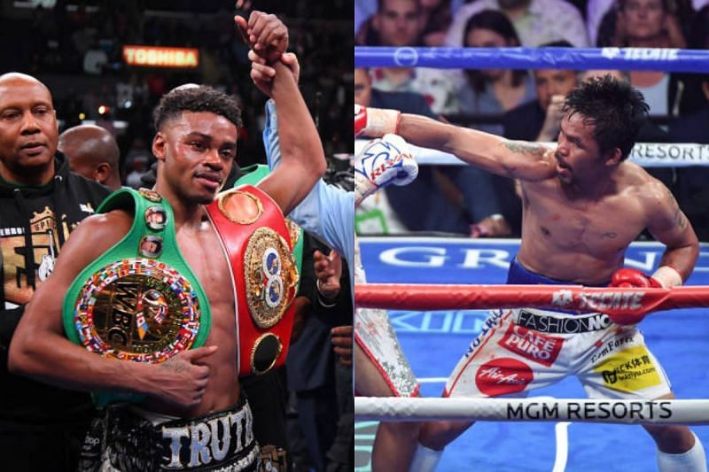 Errol Spence Jr. (left) and Manny Pacquiao (right)