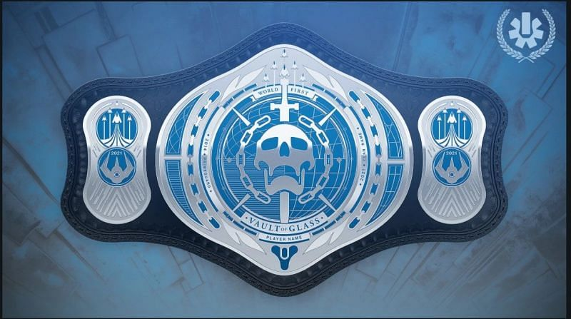 The World First title belt for the players who complete this raid first. Image via Bungie