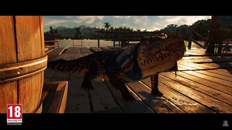 """The pet crocodile """"Guapo"""" (Image via Ubisoft)"""