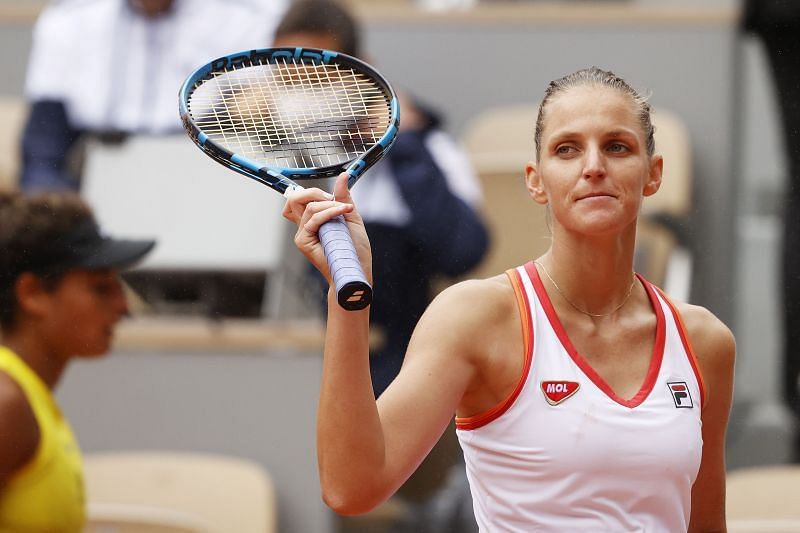 Karolina Pliskova will need to rely on his serve to keep her opponent at bay.