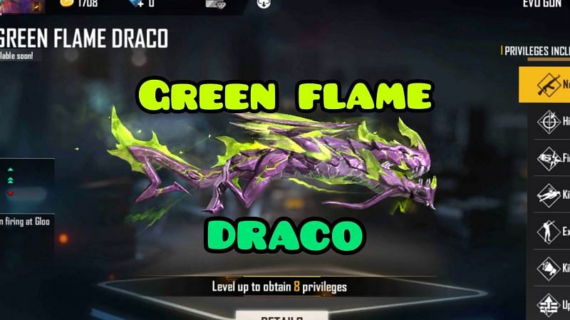 New Green Flame Draco M1014 gun in Free Fire: Special kill effect, price and abilities revealed