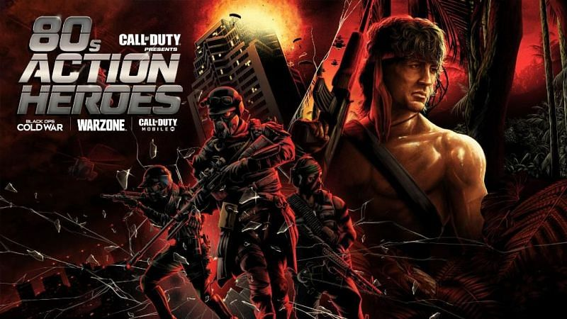 Rambo and John McClane are coming to COD with the 80s Action Heroes series (Image via Activision)