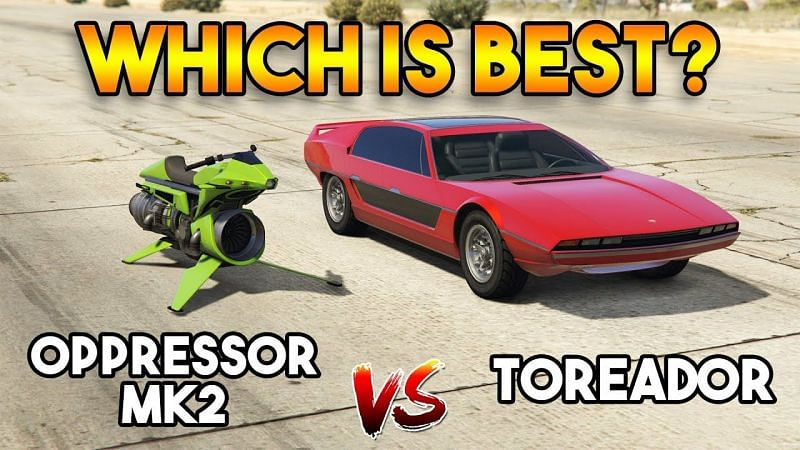 The Toreador and the Oppressor Mk II are two wildly different vehicles, each with its advantages and disadvantages (Image via Onespot Gaming | YouTube)