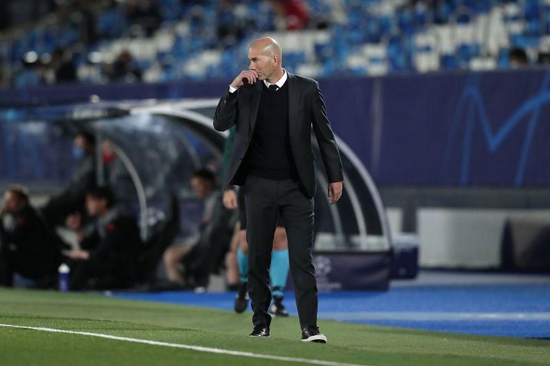 Real Madrid manager Zinedine Zidane. (Photo by Gonzalo Arroyo Moreno/Getty Images)