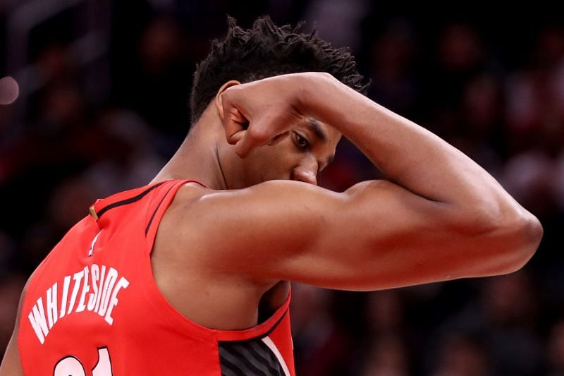 Whiteside with the Portland Trail Blazers in 2020.