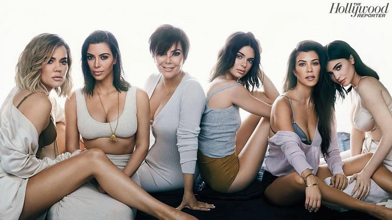 Image of The Kardashians posing for THR magazine cover/Image via The Hollywood Reporter