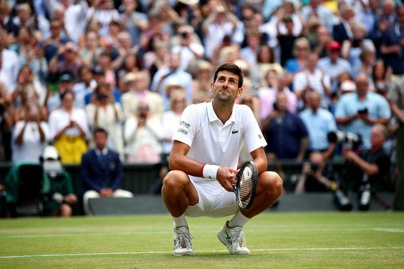 Novak Djokovic at Wimbledon 2019