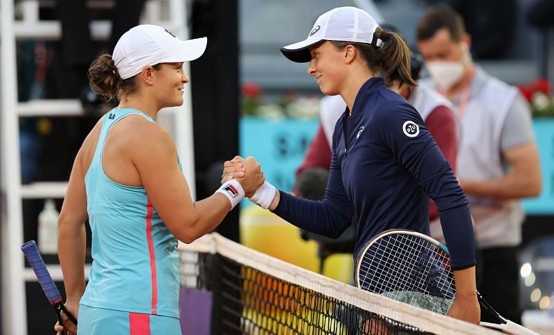 Ashleigh Barty, after defeating Iga Swiatek at the 2021 Mutua Madrid Open.