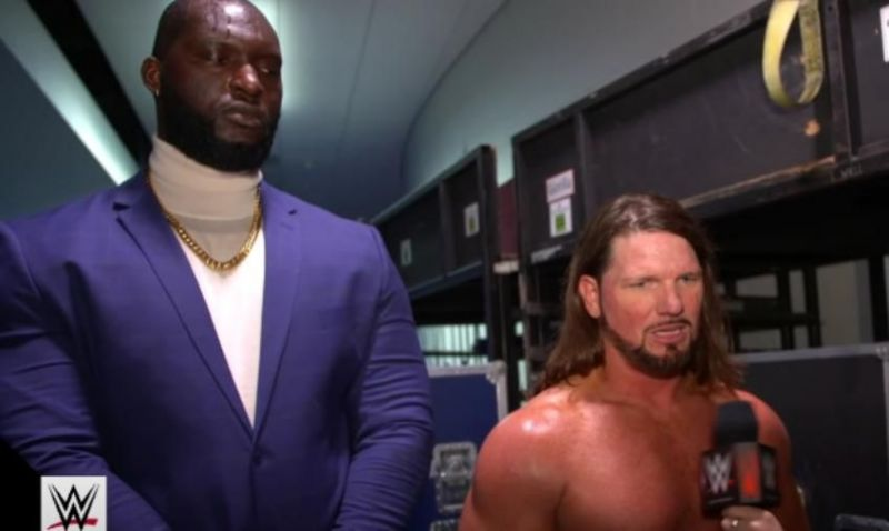 AJ Styles and Omos are the current RAW Tag Team Champions