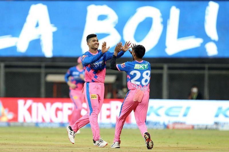 Riyan Parag celebrates a wicket during IPL 2021. (Image Courtesy: IPLT20.com)