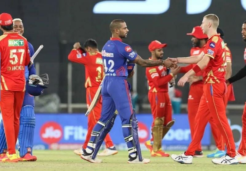 Match 29 between the Punjab Kings and Delhi Capitals was the last completed game [Credits: IPL]