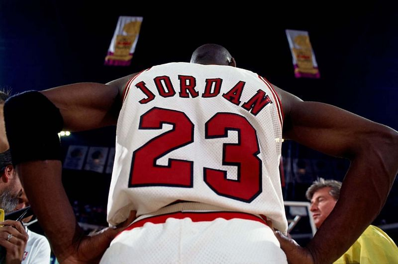 Michael Jordan in his days with the Chicago Bulls